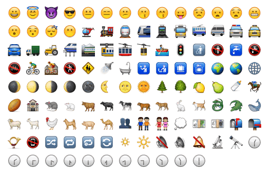 Android's Missing Emoji | timwhitlock info